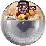 Daily Chef 6.25-Inch Plastic Plates,...