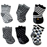 6 Pairs Assorted Anti Slip Ankle Cotton...