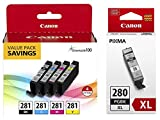 Canon CLI-281 BKCMY 4-Color Ink Tank...
