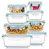 8 Pack Glass Food Storage Containers...