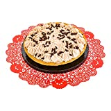 Disposable Paper Lace Doilies - Red -...