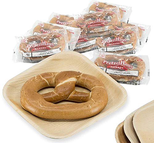 Pack of 10 Individually Wrapped PretzelHaus Soft German Style Pretzels