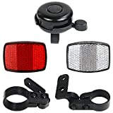SANNIX Bicycle Reflectors Front and Rear...