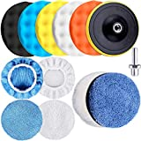 SIQUK 13 Pieces Buffing Pads 6 Inch Car...