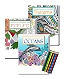 Gift Pack: 3 Adult Coloring Books and...