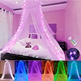 Bed Canopy with LED Star Lights,...
