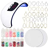 UV Resin Jewelry Making Supplies Set 54W...