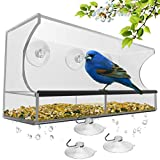 Window Bird Feeder with Strong Suction...