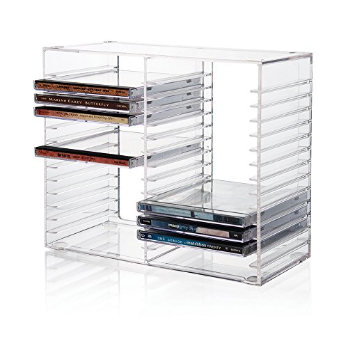 Stackable Clear Plastic CD Holder