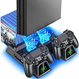 PS4 Stand Cooling Fan Station for...