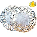 12 Inch Silver Paper Doilies Lace Paper...