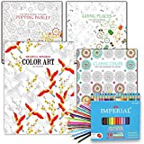 Adult Coloring Books Value Set -- 4...