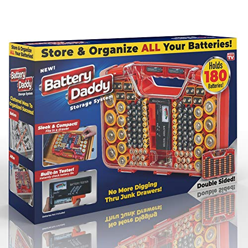 Ontel Battery Daddy 180 Battery Organizer and Storage Case