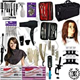 Cosmetology Kit w/Mannequin Head, Travel...