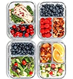 2 & 3 Compartment Glass Meal Prep...