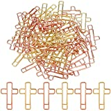 100 Pieces Cross Paper Clips, Gold and...