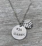 Personalized Engraved Volleyball Charm...